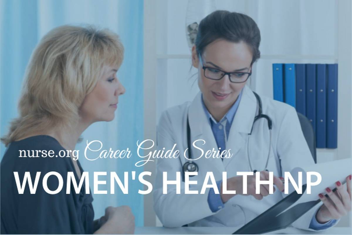 Women's health nurse practitioner discussing chart with a female patient