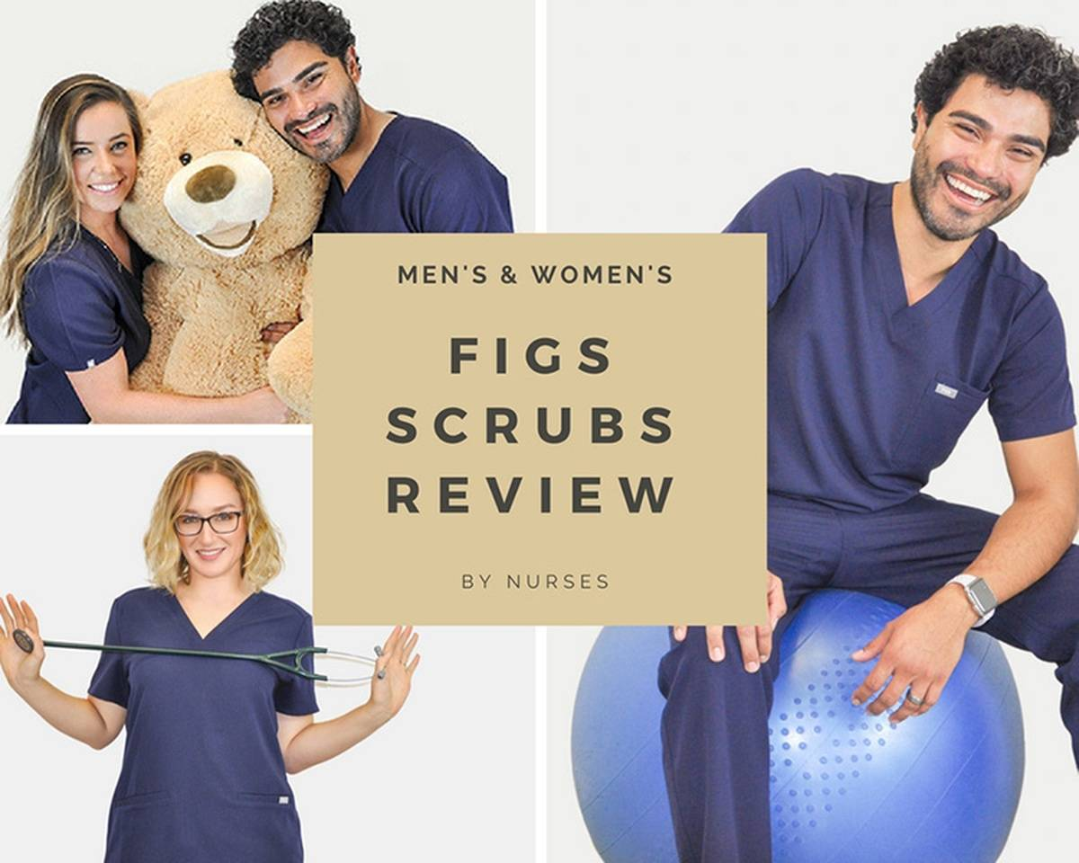Nurses modeling figs scrubs