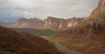 Famous buttes and valleys in Utah state parks