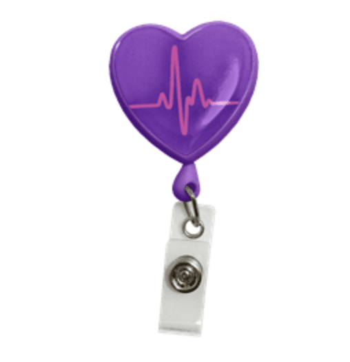 Heath with EKG graph badge clip