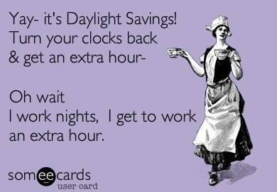Working an extra hour during night shift daylight savings