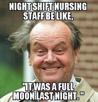 Meme depicting crazy man working night shifts